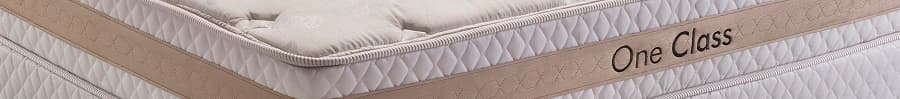 Cama Box King Herval One Class - pillow top one side